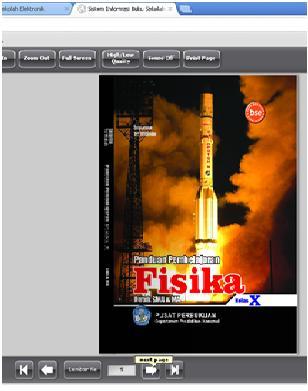Inilah tampilan buku fisika online